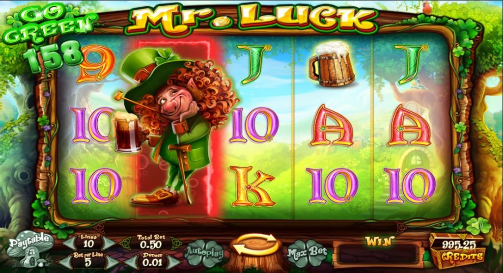 Go Green Mr. Luck slot ReelTastic