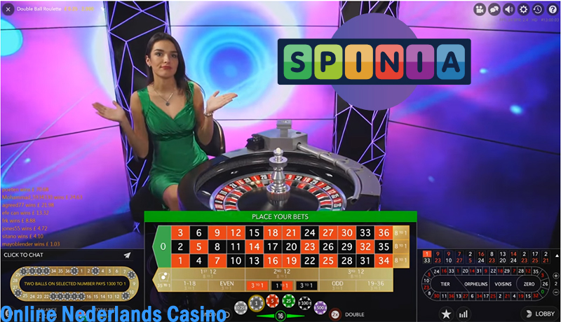 Double ball Roulette live Spinia Casino